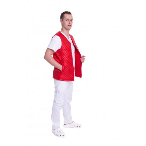 Медицинский жилет Юкон 1 стеганый Красный