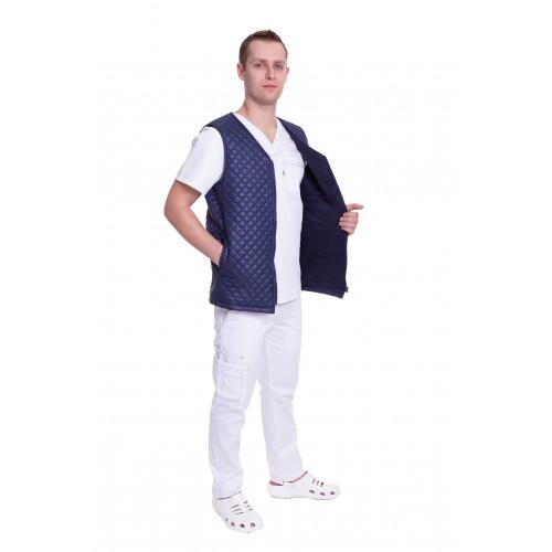 Медицинский жилет Юкон 1 стеганый Темно/синий